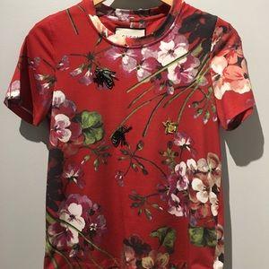 GUCCI Cotton T-shirt with appliqués Sz 38